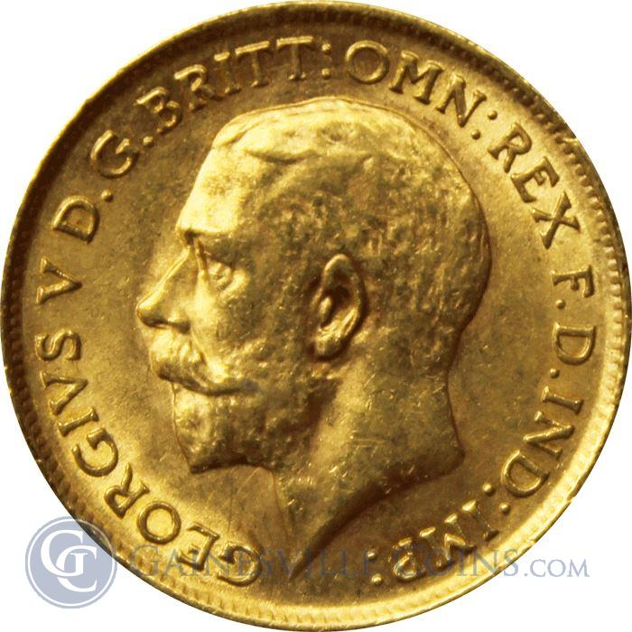 George V British Gold Sovereign Coin