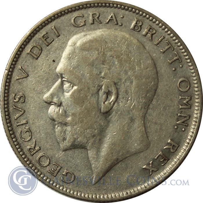 George V silver half-crown coin