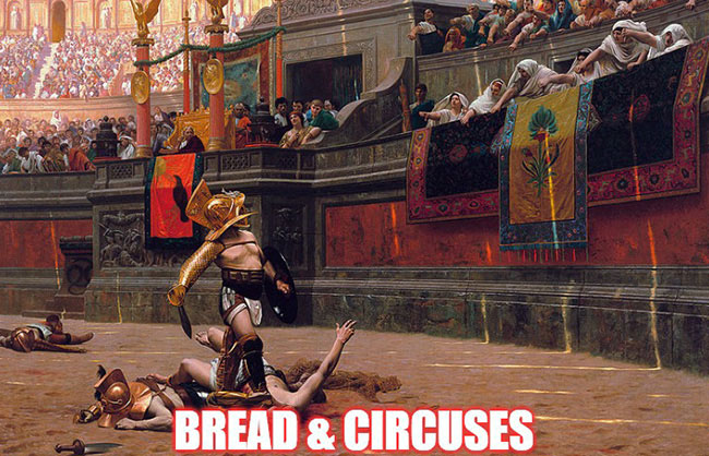 Roman gladiator bread and circuses