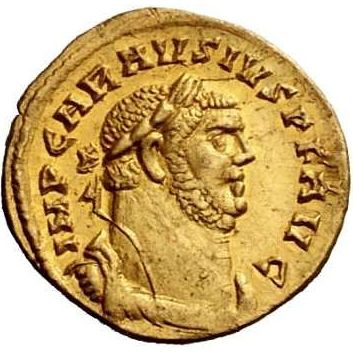 Roman Gold Coin Depicting Allectus Discovered