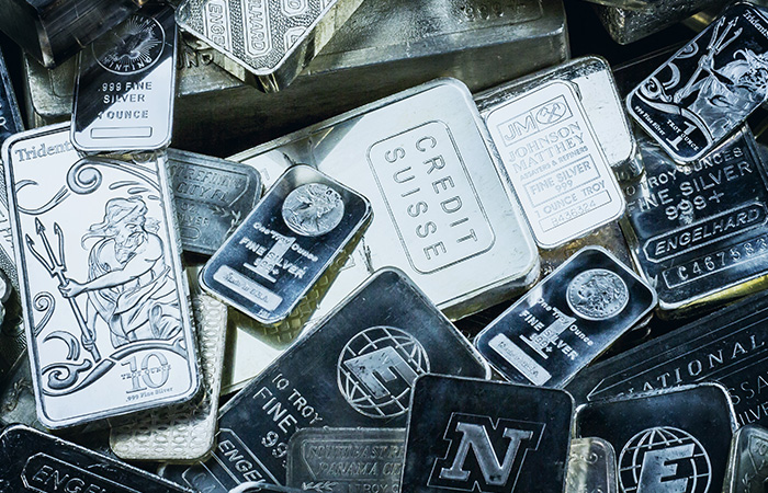 silver bars of various sizes