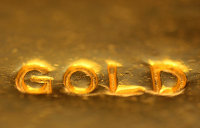 gold bar zoomed in