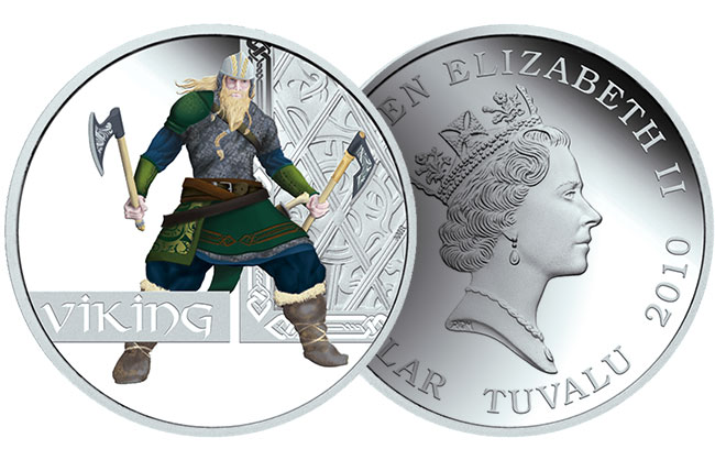 Great Warriors Viking Silver Proof Coin